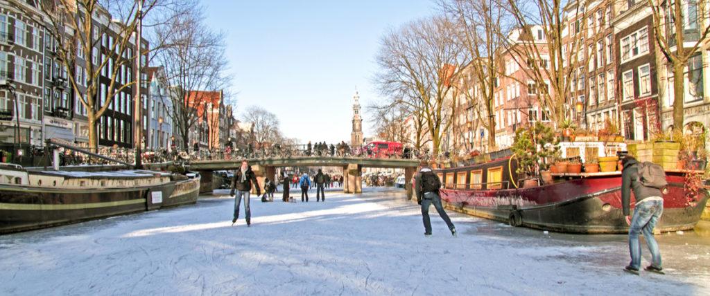 Frozen Canal Amsterdam